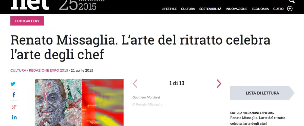 Renato Missaglia. L'arte del ritratto celebra l'arte degli chef.